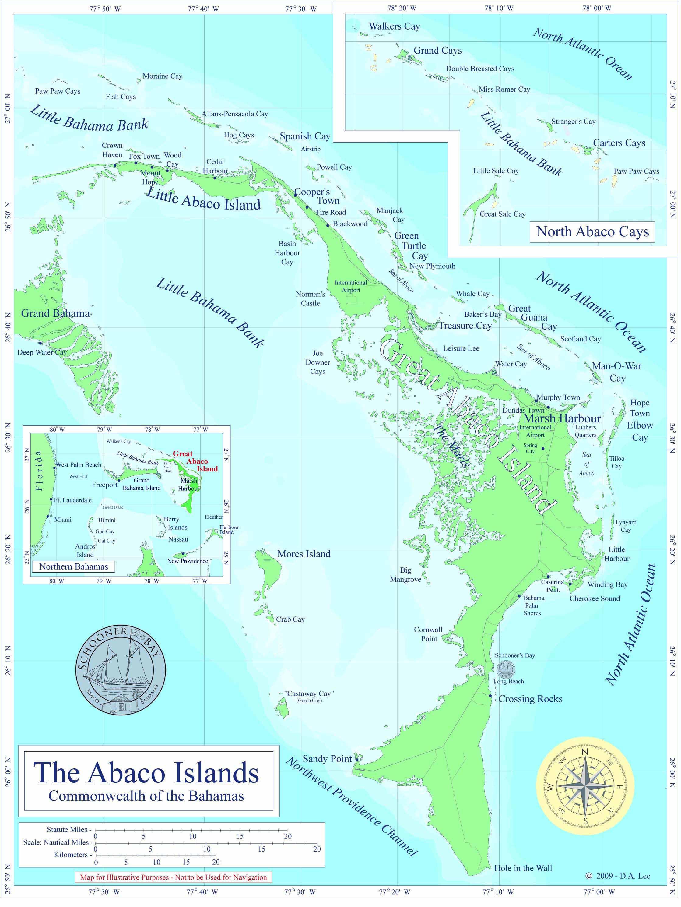 Picture of: Maps Schooner Bay Bahamas