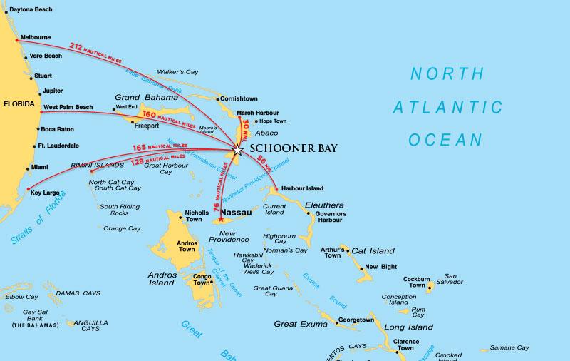 Maps Schooner Bay Bahamas